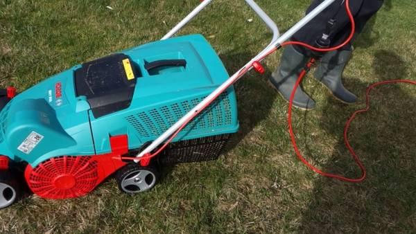Scarificateur aerateur pelouse